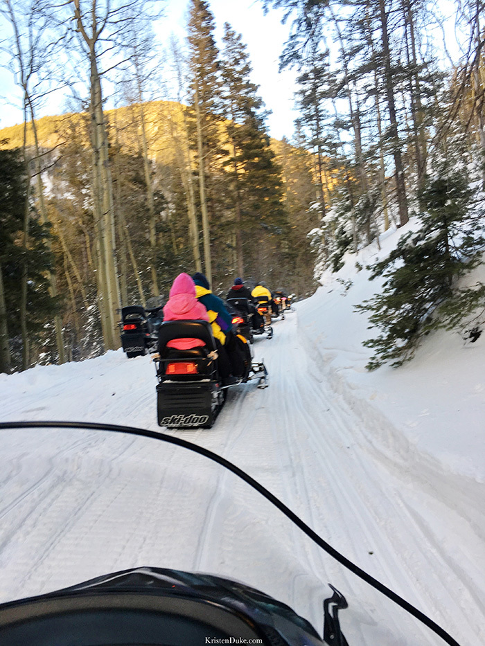 Snowmobiles at Taos Ski Resort