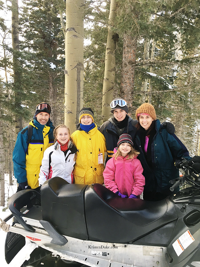 Snowmobiles at Taos Ski Resort