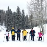 famly snowshoe hike