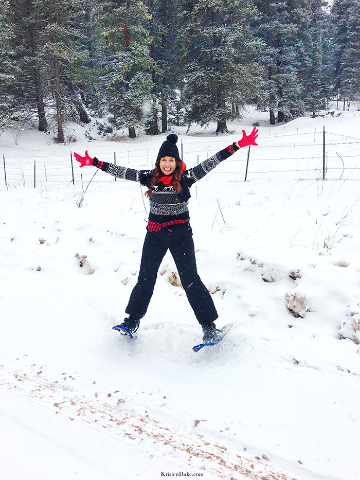 jumping for joy in Taos