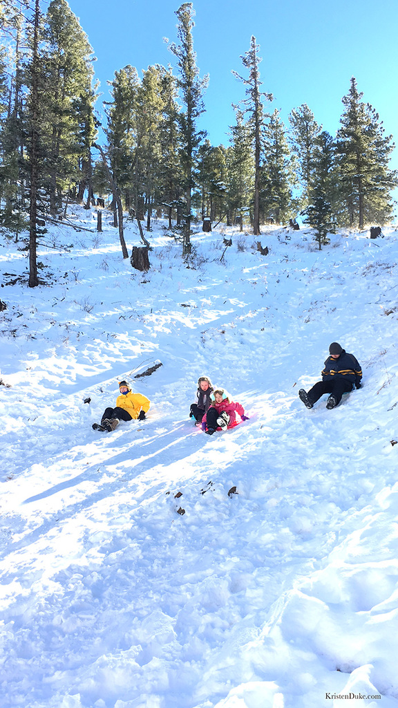 Taos New Mexico sledding