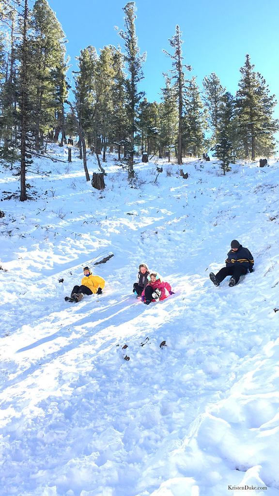 Taos New Mexico sledding
