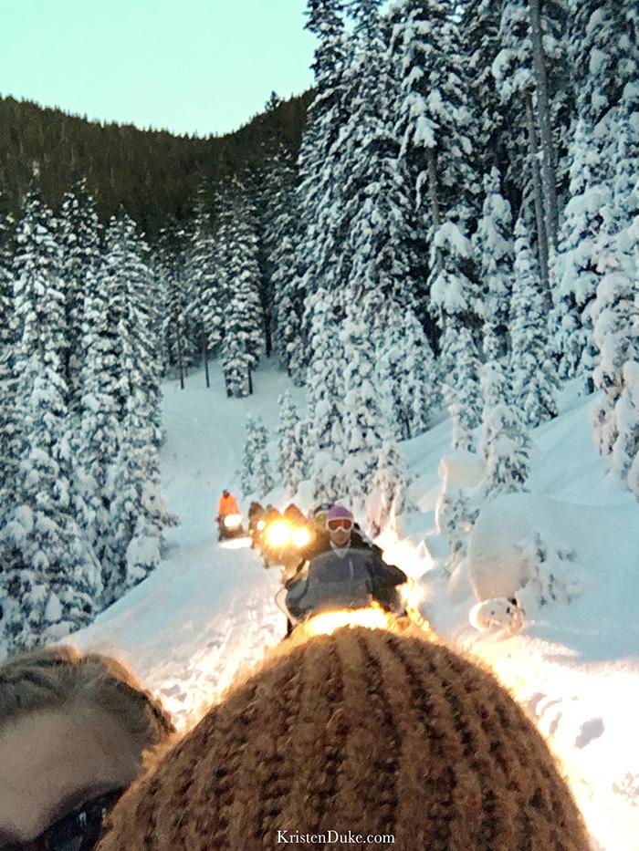 Taos Ski Resort snowmobile tour