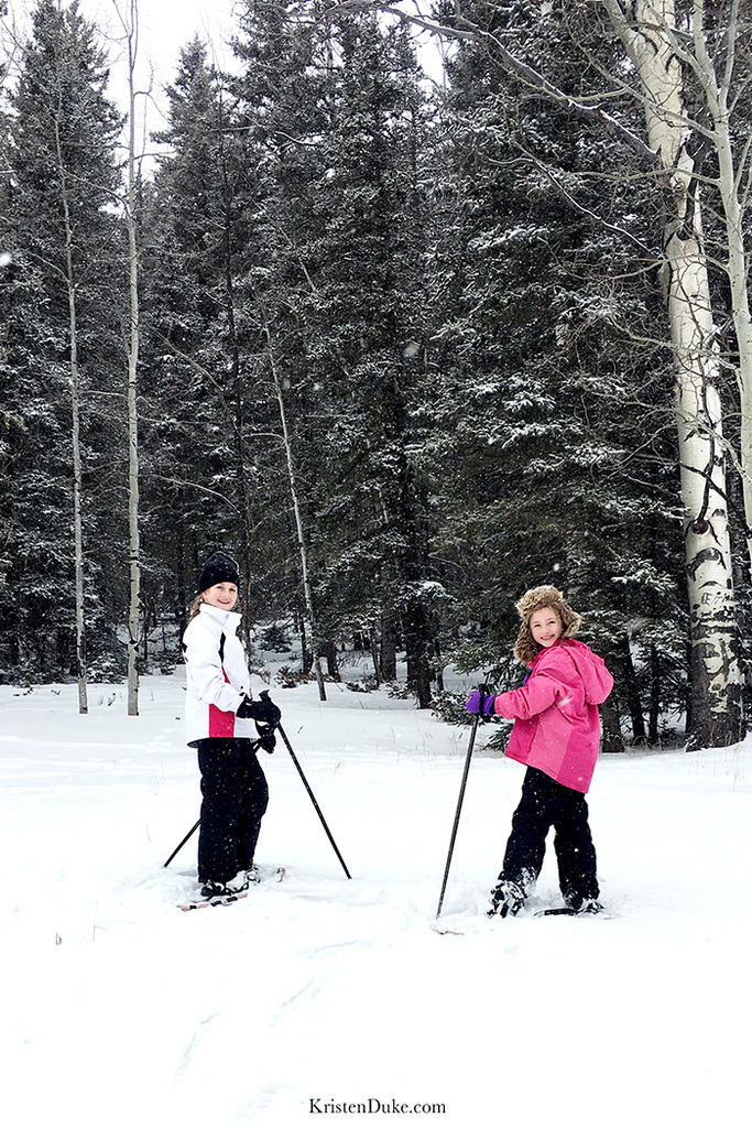 snowshoe tour in Taos