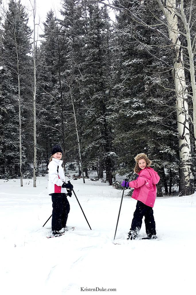 snowshoe tour in Taos