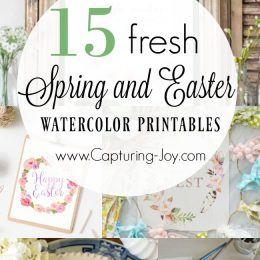10+ Fresh Spring and Easter Watercolor Printables