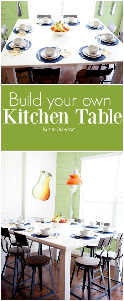 Build your own kitchen table