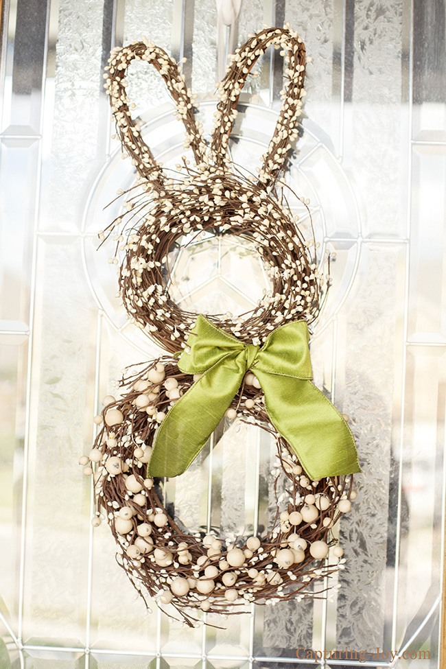 spring bunny rabbit Easter wreath