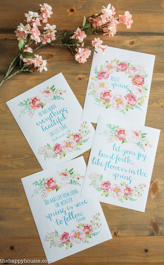 Watercolor Printables for Spring and Easter