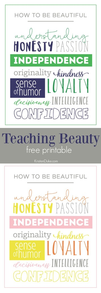 Teaching inner beauty to teens