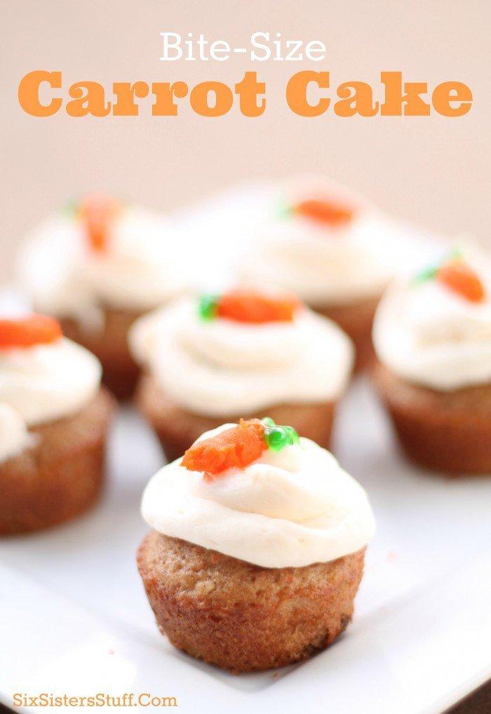 Bit size Carrot Cake Recipe