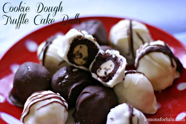 Cookie Dough Truffle Cake Bites