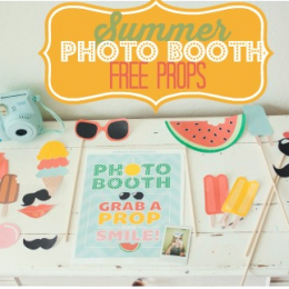 Summer Photo Booth Props {Free Printables}