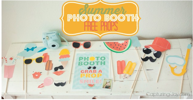image relating to Selfie Station Sign Free Printable named Summer months Picture Booth Props - Free of charge Printable Picture Booth Props