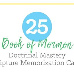Book of Mormon Scripture Doctrinal Mastery Cards