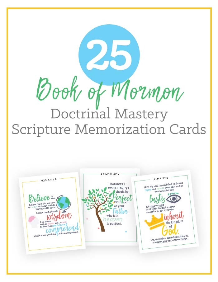 Book of Mormon Scripture Doctrinal Mastery