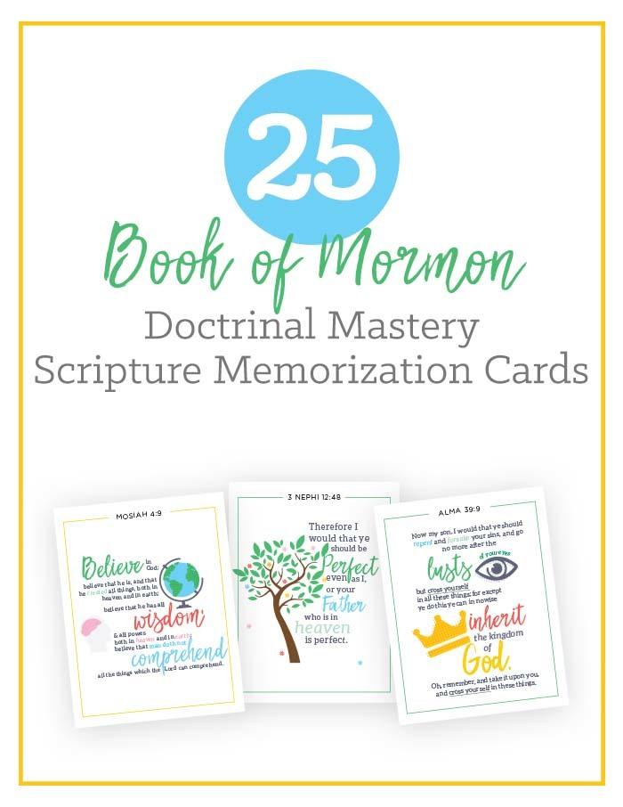 Book of Mormon Scripture Doctrinal Mastery