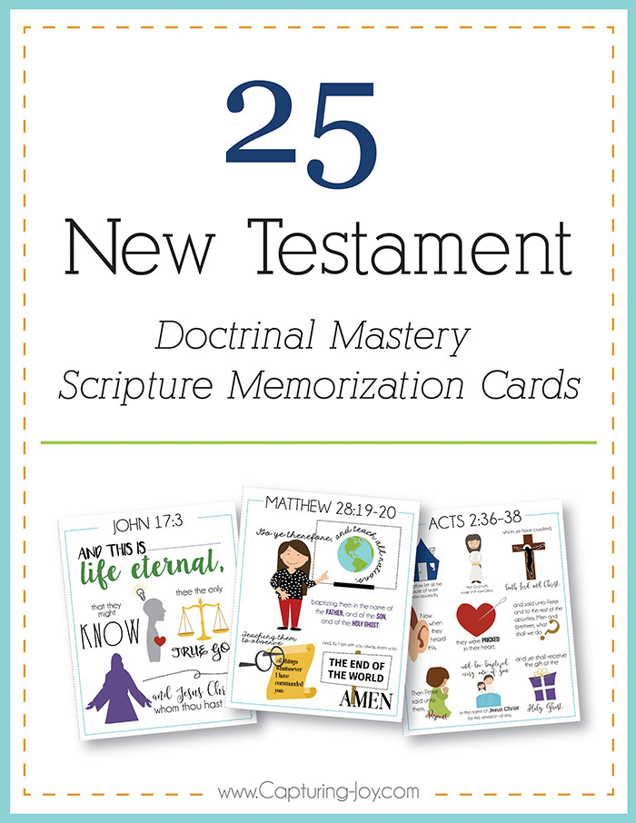 New Testament scripture mastery