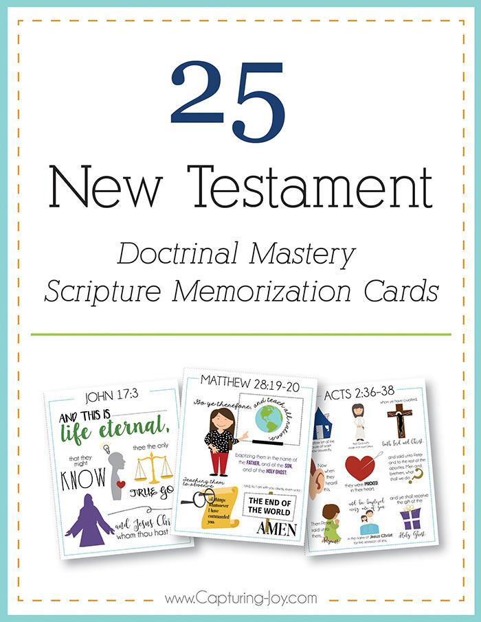 New Testament scriptures to memorize