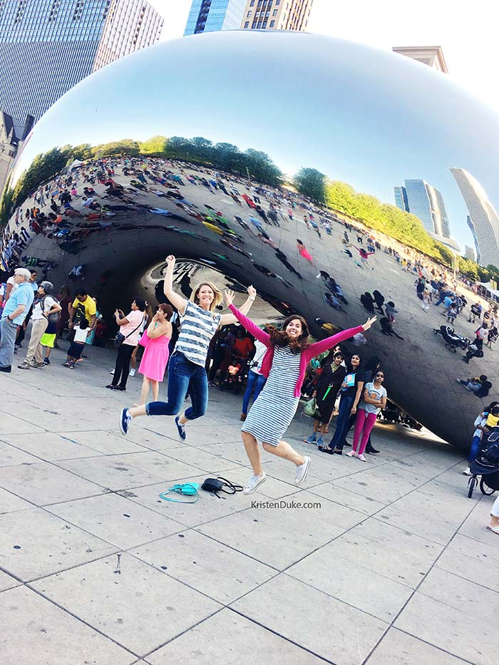 visiting the bean in chicago