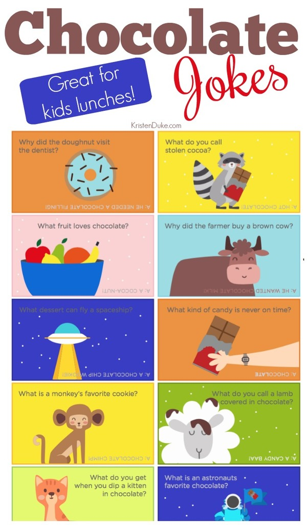 Chocolate Jokes --Great for kids lunches!