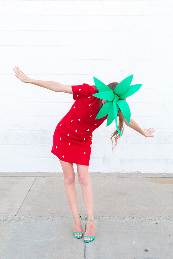 strawberry costume for teen girls
