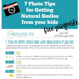 How to Get Natural Smiles in Pictures from kids