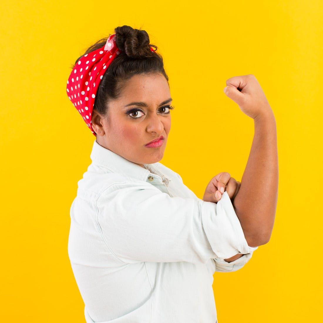 rosie the riveter halloween costume for teen girls