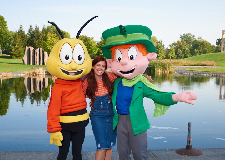 Buzz and Lucky General Mills Headquarters