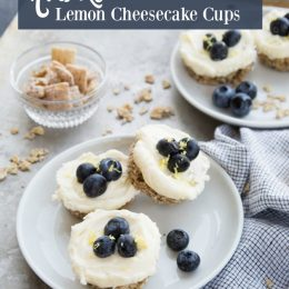 No Bake Lemon Cheesecake Cups