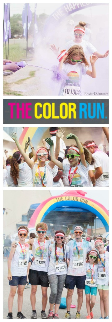 The Color Run--the happiest 5k on the planet, such a fun family activity!