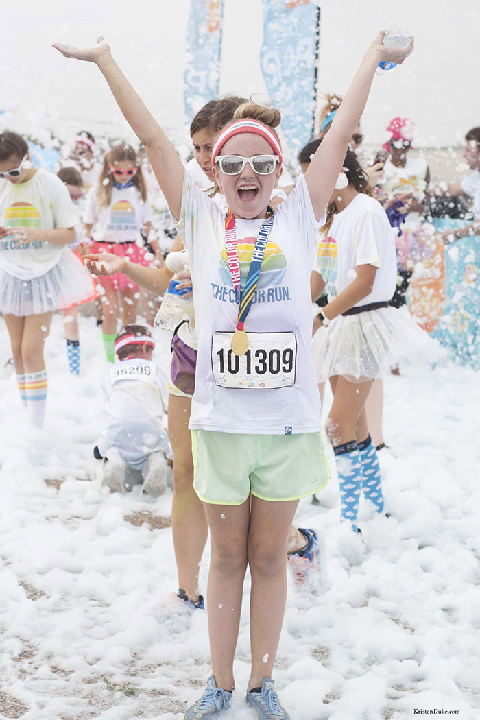 foam bath at the color run