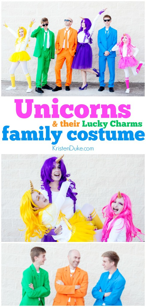 Family Halloween Costumes: Unicorns and Their Lucky Charms