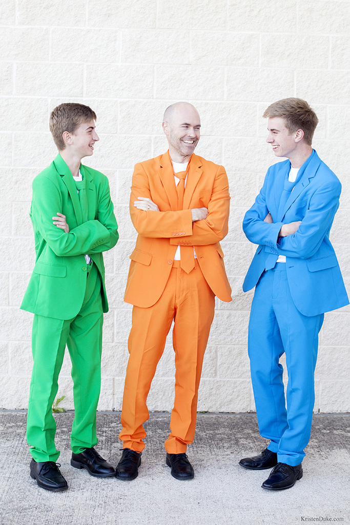 colorful suits by Opposuits