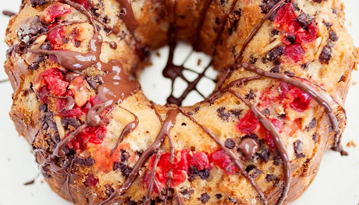 Cherry Chocolate Almond Cake Recipe