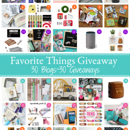 My Favorite Things Giveaway 2017