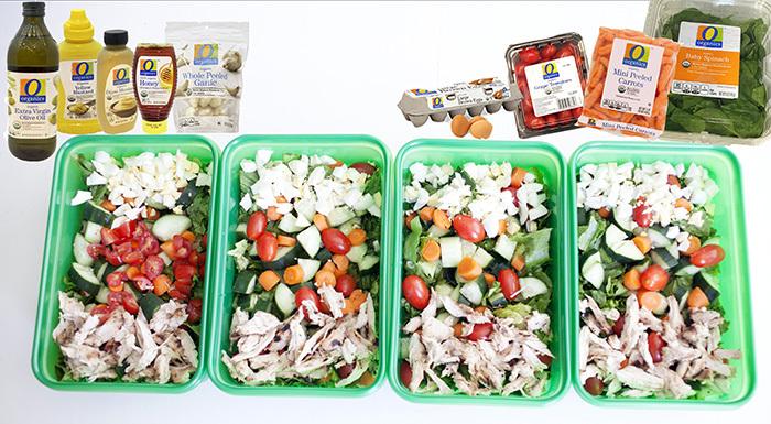 O Organics salad ingredients at Randalls