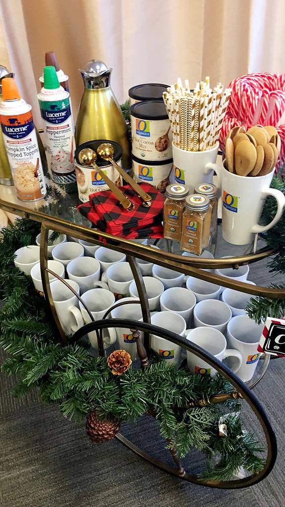 hot chocolate station bar cart
