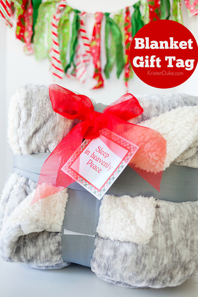 Blanket Gift Tag: Sleep in Heavenly Peace
