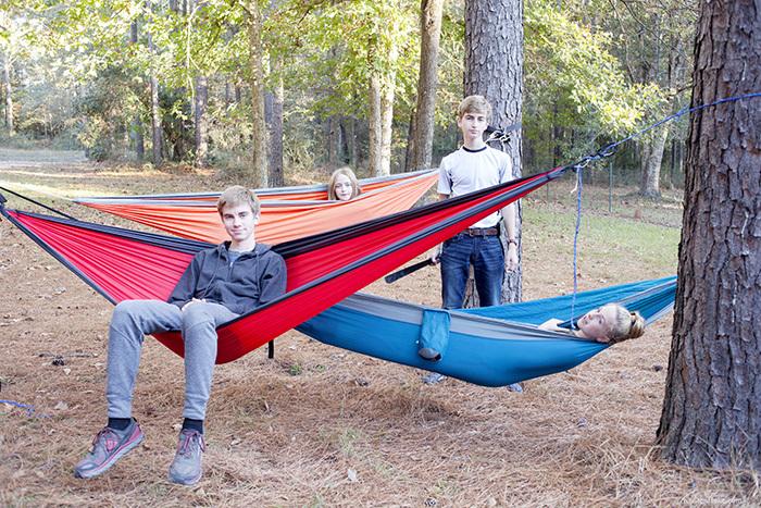 hammock in the trees