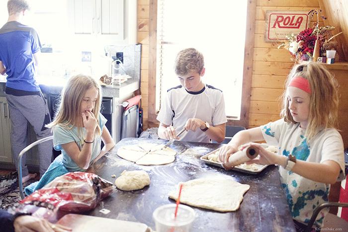 making homemade rolls