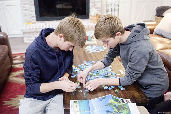 picture putting together puzzles