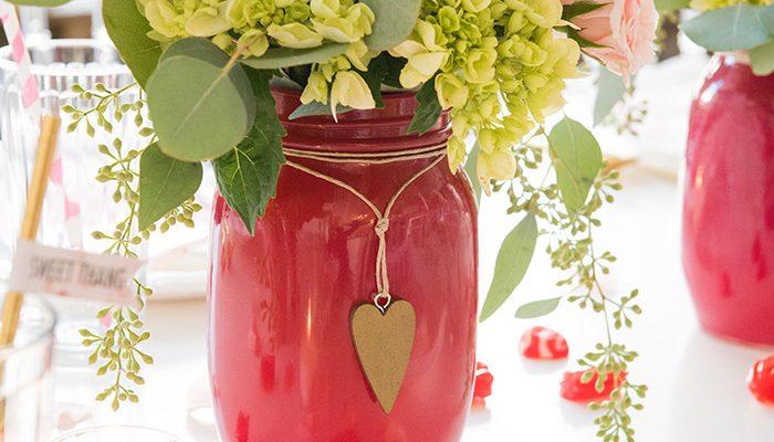 DLD Gold Heart Mason Jar