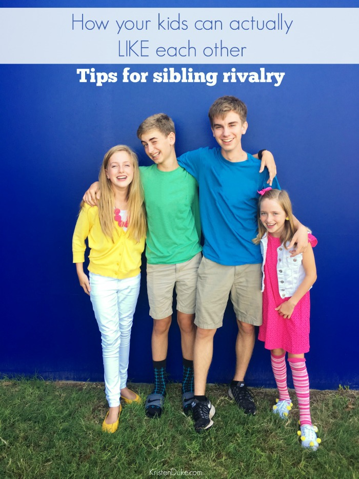 How to dispel Sibling Rivalry