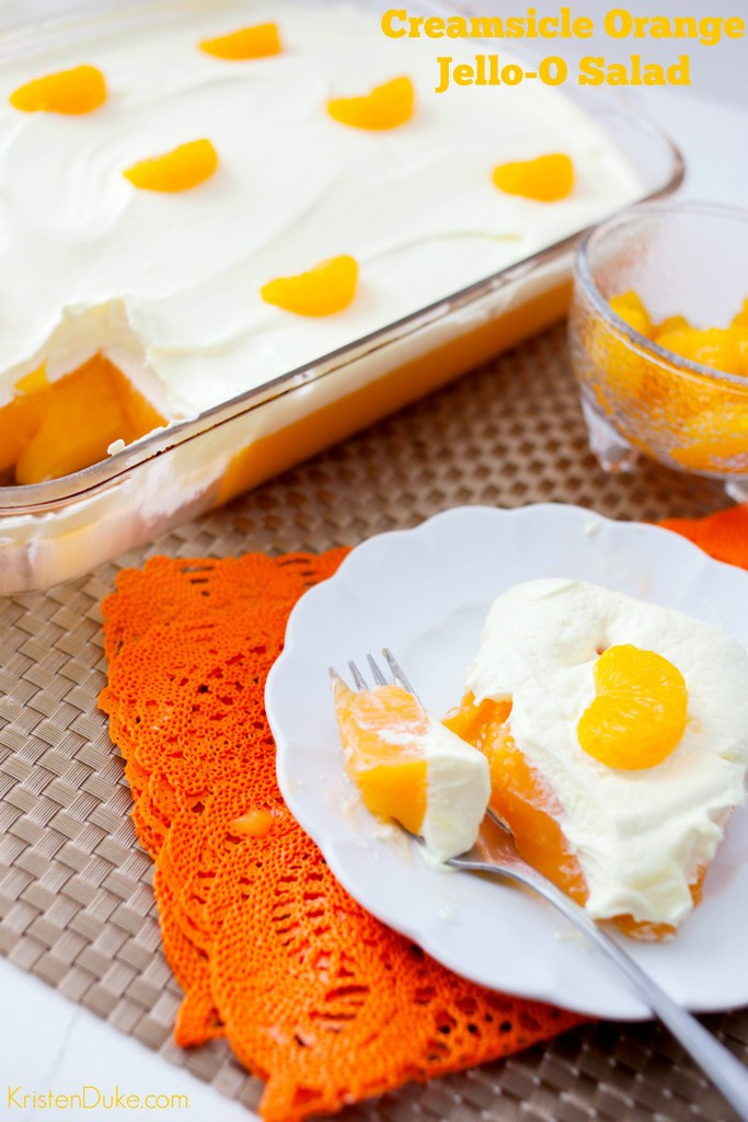 Lemon Pudding Orange Jello Salad recipe