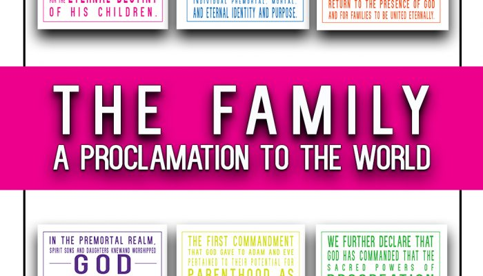 The Family: A Proclamation to the World prints