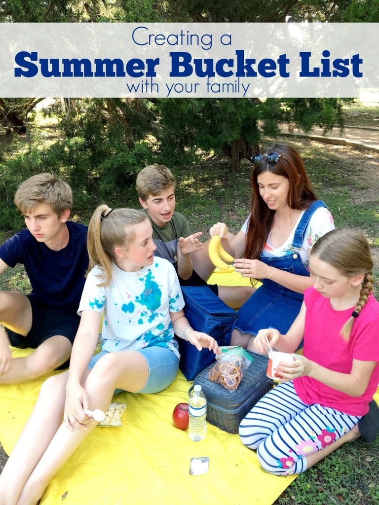 Creating a summer bucket list with your family