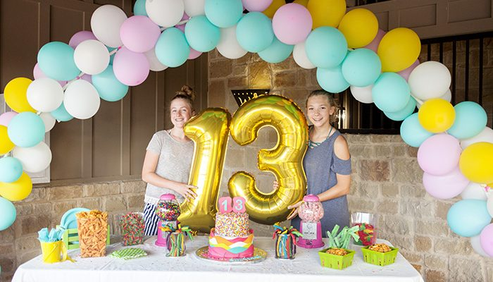 13th birthday party balloons