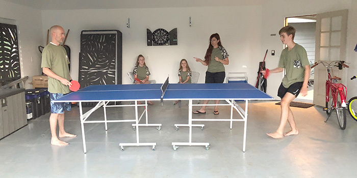 ping pong table in kauai vacation rental