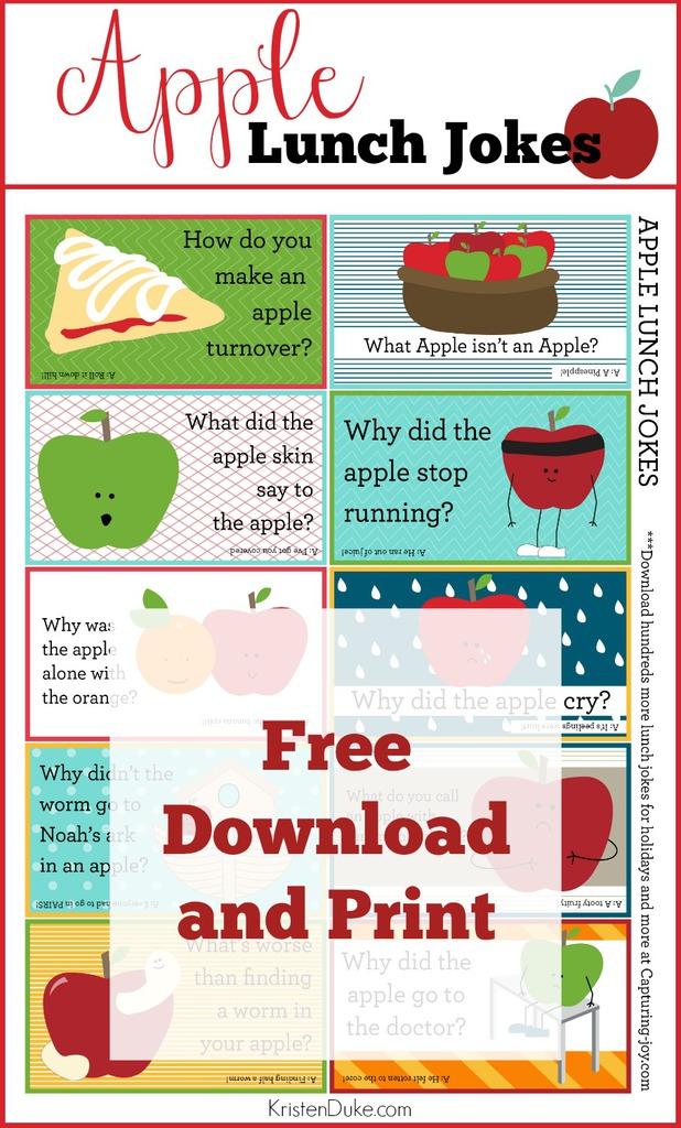 Printable sheet of Apple Jokes